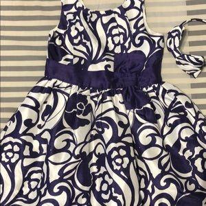 💜💜Purple Paisley Dress Sateen Sz 4💜💜
